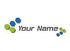 Ökologisch, Daten, Viele Sechsecke, Netzwerk, Logo