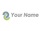 Zweifarbig, Halbkreise, Kreise, Wellen, Logo
