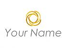 Ökologisch, Zweifarbig, Halbkreise in Gold, Finanzen, Logo