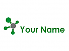 Ökologisch, Kreise, Linien, Netzwerk, Verbindungen, Logo