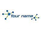 Ökologie, Zeichen, Kreise, Linien, Netzwerk, Verbindungen, Logo