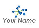 Ökologisch, Zweifarbig, Viele Kreise und Linien, Netzwerk, Verbindungen, Logo