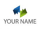 Ökologisch, Viele Dreiecke, Dreieck, Logo