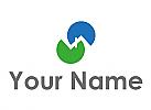 Ökologisch, Zwei Dächer, Häuser, Dachdecker, Logo