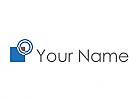 Zweifarbig, Rechteck, Kreise, Wellen, Logo