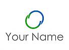 Zwei Kreise, Halbkreise, Unendlichkeit, Logo