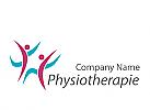 Zeichen, zwei Menschen, Physiotherapie, Praxis für Physiotherapie