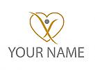 Ökomedizin, Person, Herz, Logo