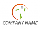 Ökomedizin, Person, Sonne, Physiotherapie, Heilpraktiker, Logo