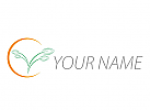Ökologie, Pflanze, Blätter, Sonne, Logo