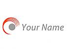 Zweifarbig, Kreis, Linien, Wellen, Auge, Vision, Logo