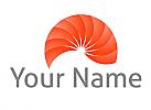Zweifarbig, Spirale, Sonne, Vision, Logo