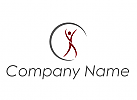 Ökomedizin, Person, Bewegung, Kreis, Physiotherapie, Logo