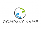 Ökologisch, Zwei Personen, Menschen, Paar, Logo