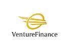 Finanzen, Investition, Erfolg, Flügel, Gold, Geld, Logo