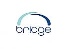 Zeichen, zweifarbig, Signet, Symbol, Brücke, Verbindung, Bauwerk, Logo