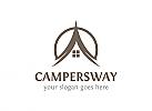 Camping, Urlaub, Zelt, Tourismus, Logo