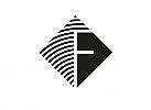 Zeichen, Signet, Linien, Raute, F, Logo