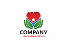 Ö, Zeichen, Signet, Mensch, Herz, Blatt, Heilpraktiker, Natur, Wellness, Blätter, Pflanze, Vegan Logo