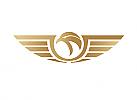 Zeichen, Signet, Symbol, Adler, Falke, Gold, Logo