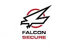 Zeichen, zweifarbig, Signet, Symbol, Falke, Adler, Security, Logo