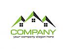 Haus, Immobilien, Makler, Bau, Logo