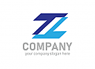 Buchstabe Z Logo, Symbol Z Logo, Daten, Technologie, Software, Internet, Logo