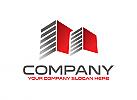 Immobilien, Finanzen, Bau, Makler, Beratung, Logo