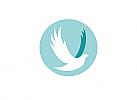 Zeichen, zweifarbig, Signet, Symbol, Vogel, Taube, Kreis, Kugel, Logo