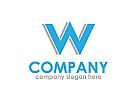 Blau, Einfach, Text, Buchstabe W, Weblösungen, Logo