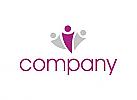 Logo für Menschen, Wellness, Beauty, Gemeinschaft