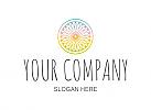 Logo für Heilpraktiker, Kosmetik, Wellness, Abstrakt