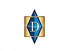 Zeichen, Initial D, Logo Schmuckladen, Luxusartikel