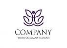 Kosmetik logo, Baum logo, Blatt logo, Yoga logo