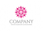 Ökologie Logo, Blume Logo, Rose Logo, Natur Logo, Wellness, Spa, Kosmetik, Massage, Hotel