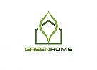 Ökologie, Zeichen, Signet, Symbol, Haus, Natur, Logo