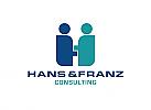 Zeichen, zweifarbig, Zeichnung, zwei Menschen, H, Logo
