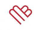 Zeichen, Zeichnung, Herz, M, B, Logo