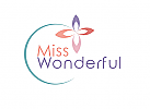 Zeichen, Zeichnung, Blume, Blüte, Kreis, Spa, Wellness, Kosmetik, Logo