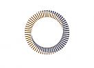 Zeichen, zweifarbig, Zeichnung, Spirale, Logo
