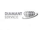 Zeichen, Zeichnung, Diamant, Brillant, Logo