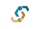 Zeichen, zweifarbig, Zeichnung, zwei Menschen, S, Logo