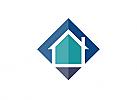 Zeichen, Signet, Haus, Immobilie, Handwerk, Bau, Logo