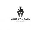 Logo für Kampfsport, Kraft, Stärke, Spartaner