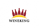 Zeichen, Wein, Weinflaschen, Krone