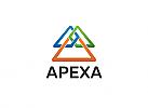 Ö, Zeichen, Dreieck, Buchstabe A. Spitze, Beratung, Marketing, Verbindung, Link, Finanzen, Technologie Logo