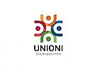 Ö, Menschen, Beratung, Gruppen, Kinder, Bunt, Union Logo
