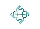 Öko, Zeichen, Zeichnung, Menschen, Globus, Welt, Erde, Logo