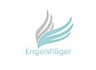 Zeichen, zweifarbig, Zeichnung, Flügel, Logo