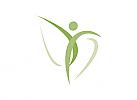 Zeichen, Mensch, Bewegung, Physiotherapie, Logo